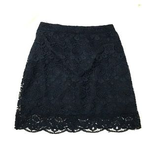 NWT Hollister navy blue lace skirt